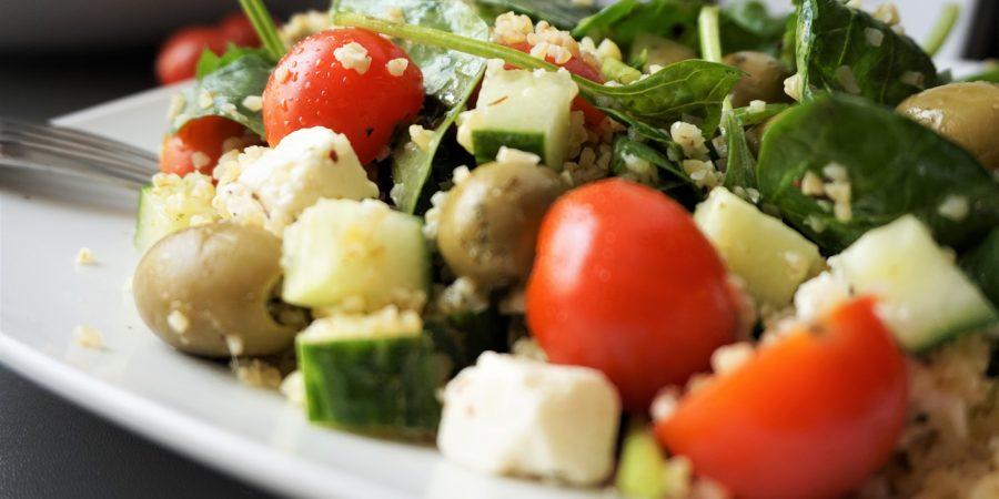 bulgur salade met feta en groenten
