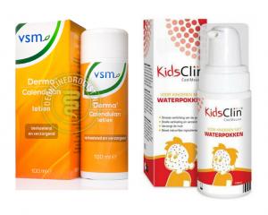 middeltjes waterpokken bij kinderen